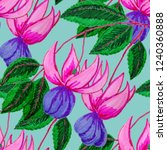 creative seamless pattern with... | Shutterstock . vector #1240360888