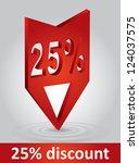 discount label   commerce... | Shutterstock .eps vector #124037575