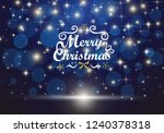 christmas background with blue... | Shutterstock .eps vector #1240378318