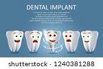 dental implant poster banner... | Shutterstock .eps vector #1240381288