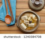 korean food soybean paste stew  ... | Shutterstock . vector #1240384708