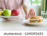 woman on dieting for good... | Shutterstock . vector #1240392652