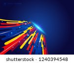 abstract colorful geometric... | Shutterstock .eps vector #1240394548