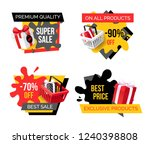 special promotion on exclusive... | Shutterstock .eps vector #1240398808