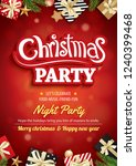 merry christmas party and... | Shutterstock .eps vector #1240399468