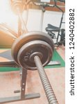 dumbbell the device in the... | Shutterstock . vector #1240402882