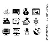 a set of educational icons | Shutterstock .eps vector #1240403428