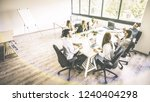 young people employee coworkers ... | Shutterstock . vector #1240404298