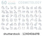 set of vector line icons of... | Shutterstock .eps vector #1240406698