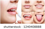 collage with perfect female... | Shutterstock . vector #1240408888