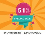 51  off discount promotion sale ...   Shutterstock .eps vector #1240409002