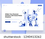 relationship  online dating and ... | Shutterstock .eps vector #1240413262