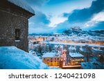 classic view of the historic... | Shutterstock . vector #1240421098