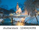 beautiful twilight view of... | Shutterstock . vector #1240424398