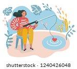 vector cartoon funny... | Shutterstock .eps vector #1240426048