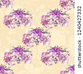 seamless floral pattern with... | Shutterstock .eps vector #1240427332