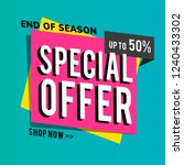 end of season special offer... | Shutterstock .eps vector #1240433302