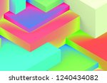 abstract geometric cubic... | Shutterstock . vector #1240434082