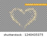 golden heart of glitter light... | Shutterstock .eps vector #1240435375