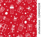 holiday vector seamless pattern.... | Shutterstock .eps vector #1240443238