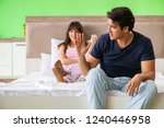 woman and man in the bedroom...   Shutterstock . vector #1240446958