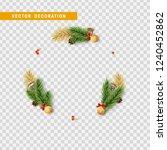 christmas background of... | Shutterstock .eps vector #1240452862