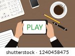 "the inscription ""play"" on the... 