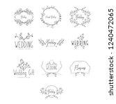 florist wedding template design | Shutterstock .eps vector #1240472065