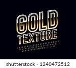 vector golden alphabet. chic...   Shutterstock .eps vector #1240472512