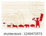 boar new year card japanese... | Shutterstock .eps vector #1240472572