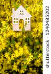 the symbol of the house among... | Shutterstock . vector #1240485202