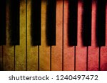 old piano vintage background | Shutterstock . vector #1240497472