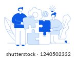 vector flat line style business ... | Shutterstock .eps vector #1240502332