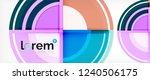 modern geometric circles... | Shutterstock .eps vector #1240506175