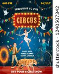 Circus Show Performance Poster  ...