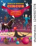 circus show retro poster ... | Shutterstock .eps vector #1240507378