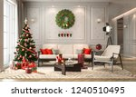 christmas living room with a... | Shutterstock . vector #1240510495
