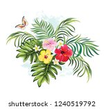 tropical summer illustration... | Shutterstock .eps vector #1240519792