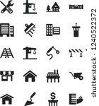 solid black vector icon set  ... | Shutterstock .eps vector #1240522372