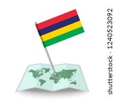 map with flag of mauritius... | Shutterstock .eps vector #1240523092