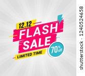 flash sale banner template... | Shutterstock .eps vector #1240524658