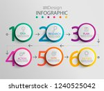 paper infographic template with ... | Shutterstock .eps vector #1240525042