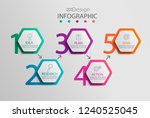 paper infographic template with ... | Shutterstock .eps vector #1240525045