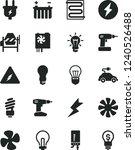 solid black vector icon set  ... | Shutterstock .eps vector #1240526488