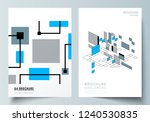 the vector layout of a4 format... | Shutterstock .eps vector #1240530835