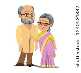 a happy old indian couple is... | Shutterstock .eps vector #1240534882