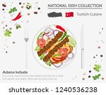 turkish cuisine. middle east... | Shutterstock .eps vector #1240536238