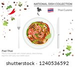thai cuisine. asian national... | Shutterstock .eps vector #1240536592