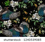 embroidery magpie birds and... | Shutterstock .eps vector #1240539085