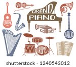 set of colorful musical... | Shutterstock .eps vector #1240543012